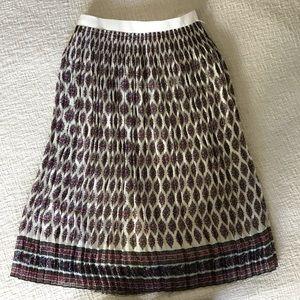 Madewell pleated paisley midi skirt